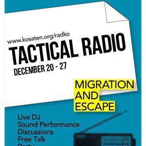 ジョン・パイレズ特定課題研究プロジェクトTactical Radio  Event: Migration And Escape