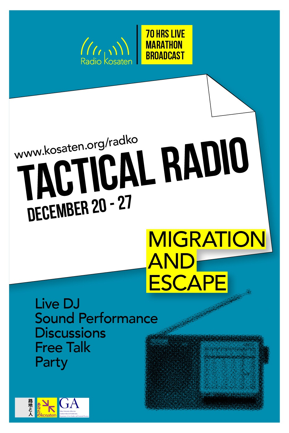 Jong Pairez Special Research ProjectTactical Radio Event: Migration And Escape